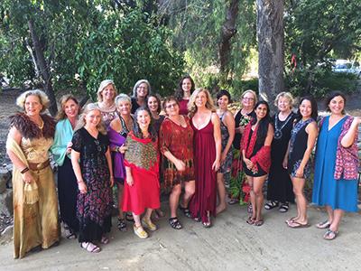women at retreat
