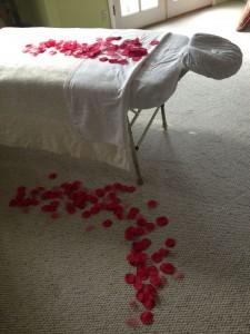 Rose petal massage